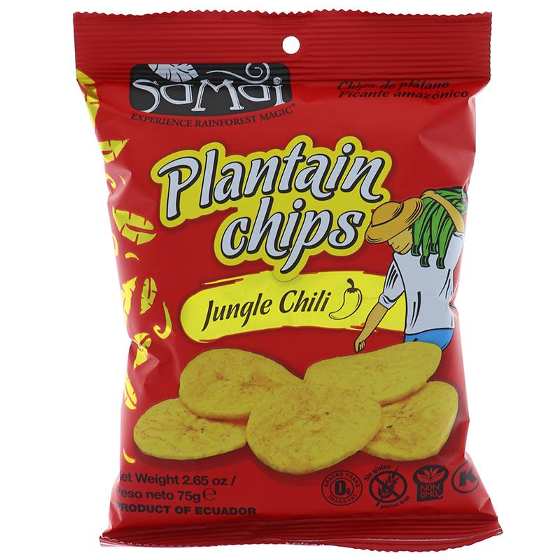 Samai Plantain Chips Jungle Chili 2.65 Oz