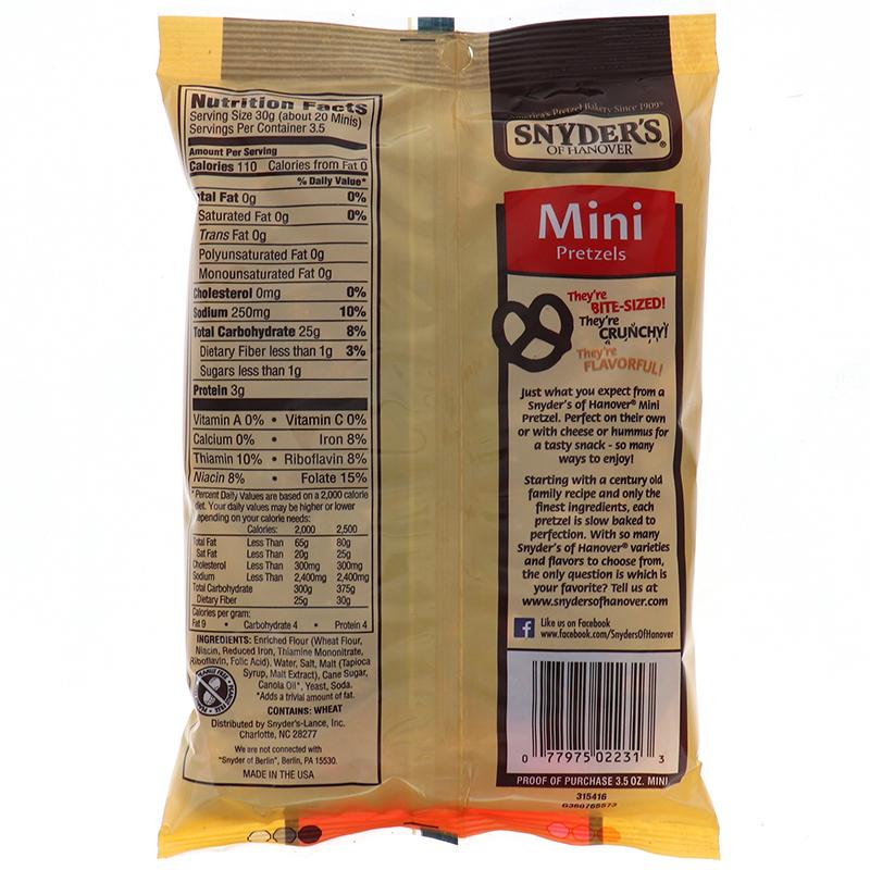 Snyders Mini Pretzels 3.5oz