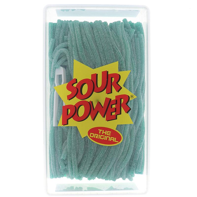 Sour Power Straws Green Apple Assorted 200 Pcs