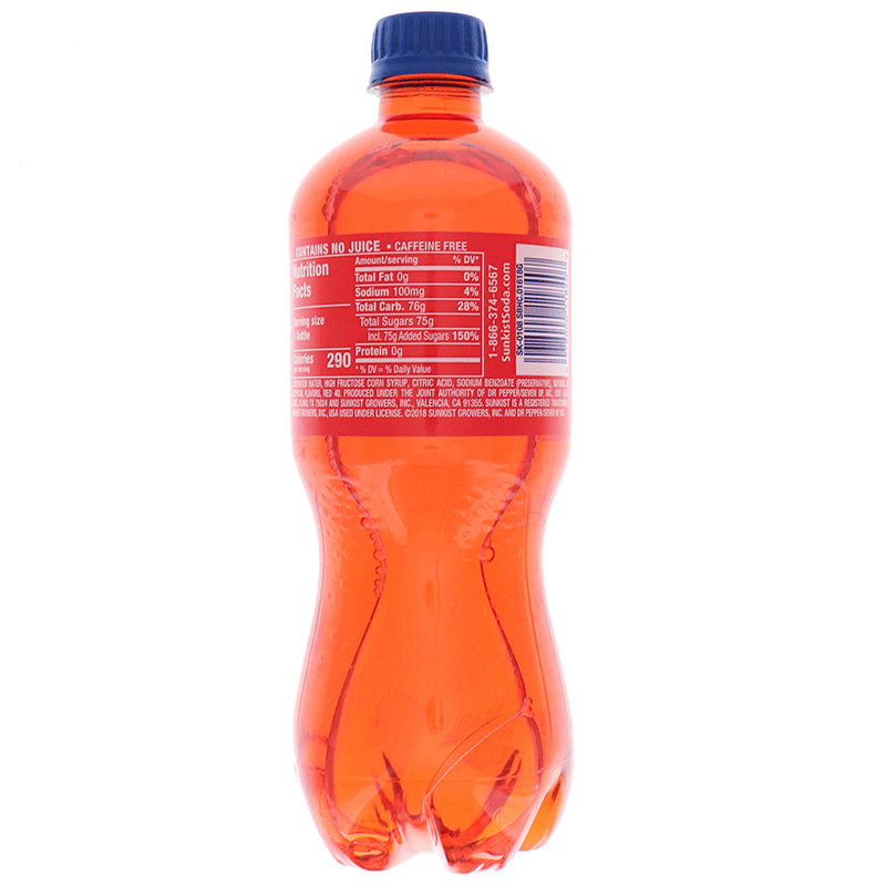 Sunkist Strawberry Soda 20 Oz