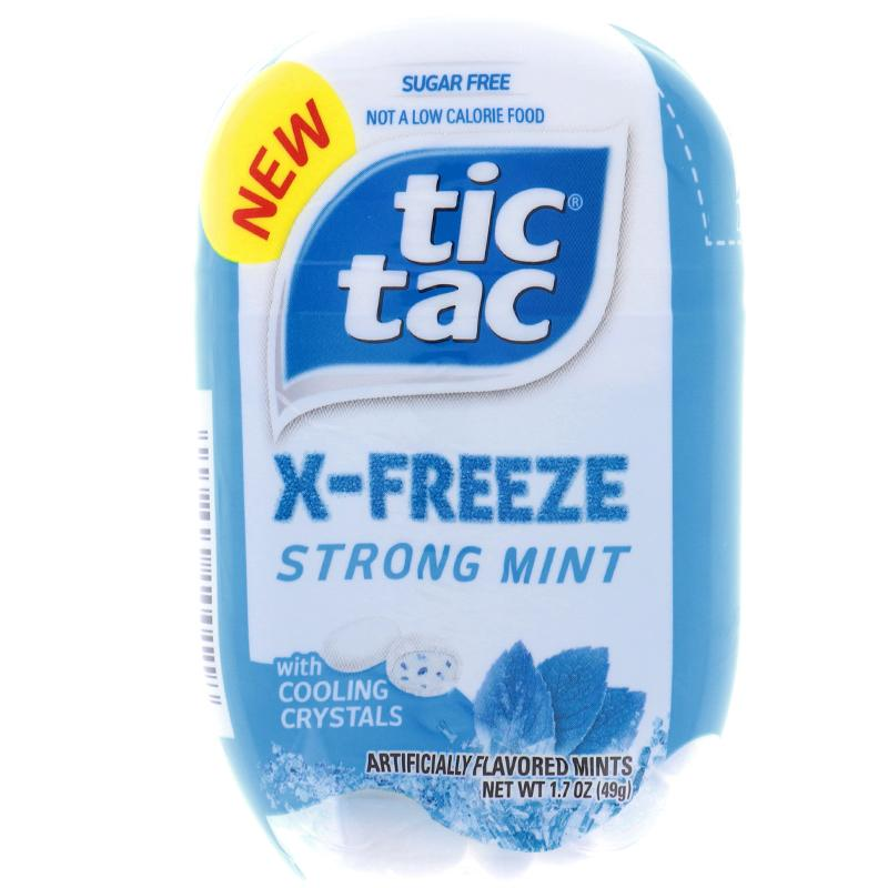 Tic Tac X-Freeze Strong Mint Flavor Bottle 1.7oz