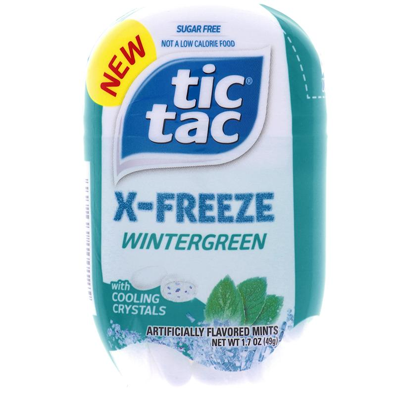 Tic Tac X-Freeze Mint Bottle Wintergreen Flavor 1.7oz