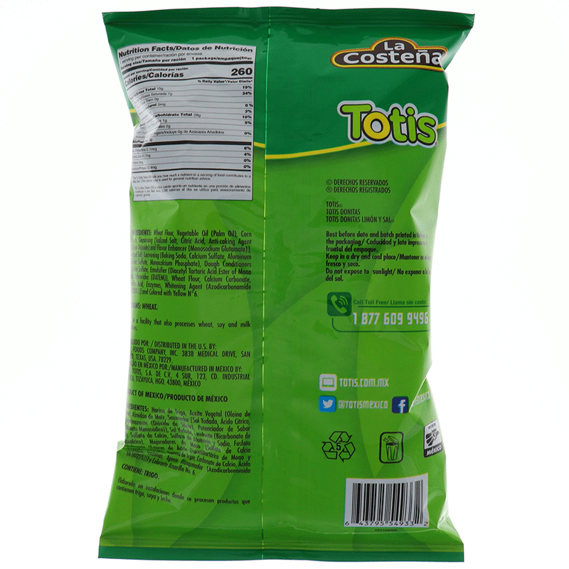 Totis Donitas Salt & Lemon 1.76 Oz