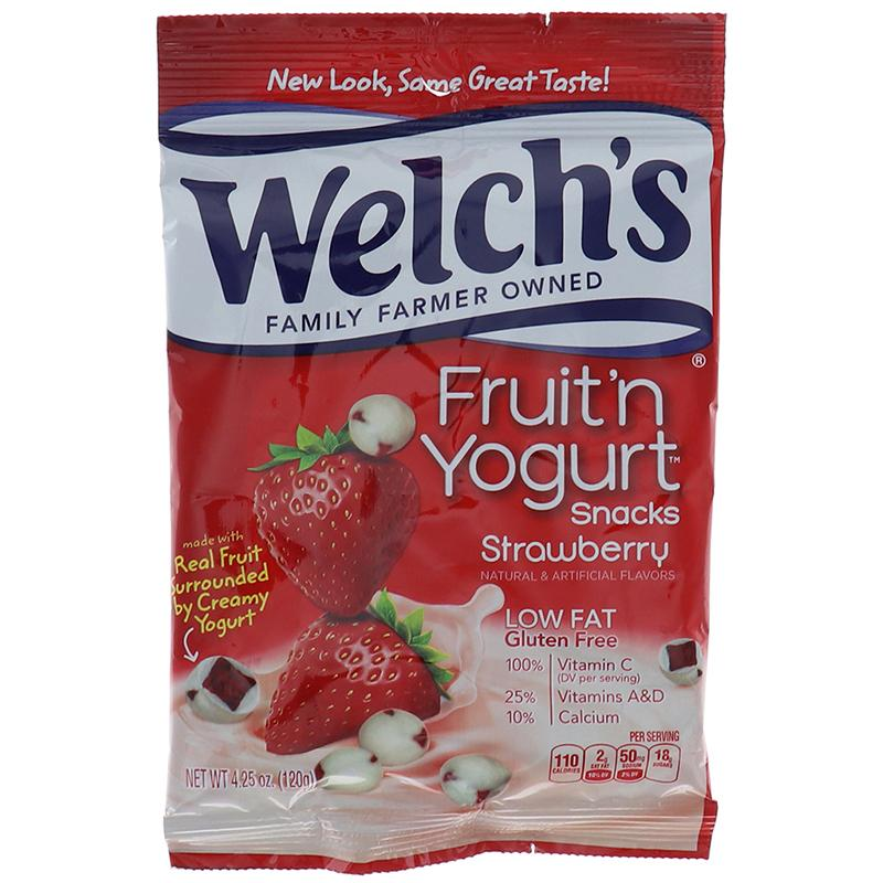 Welchs Peg Fruit N Yogurt - Strawberry 4.25 Oz