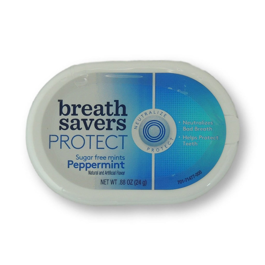 Breath Savers Protect Mint Peppermint Can 0.88oz