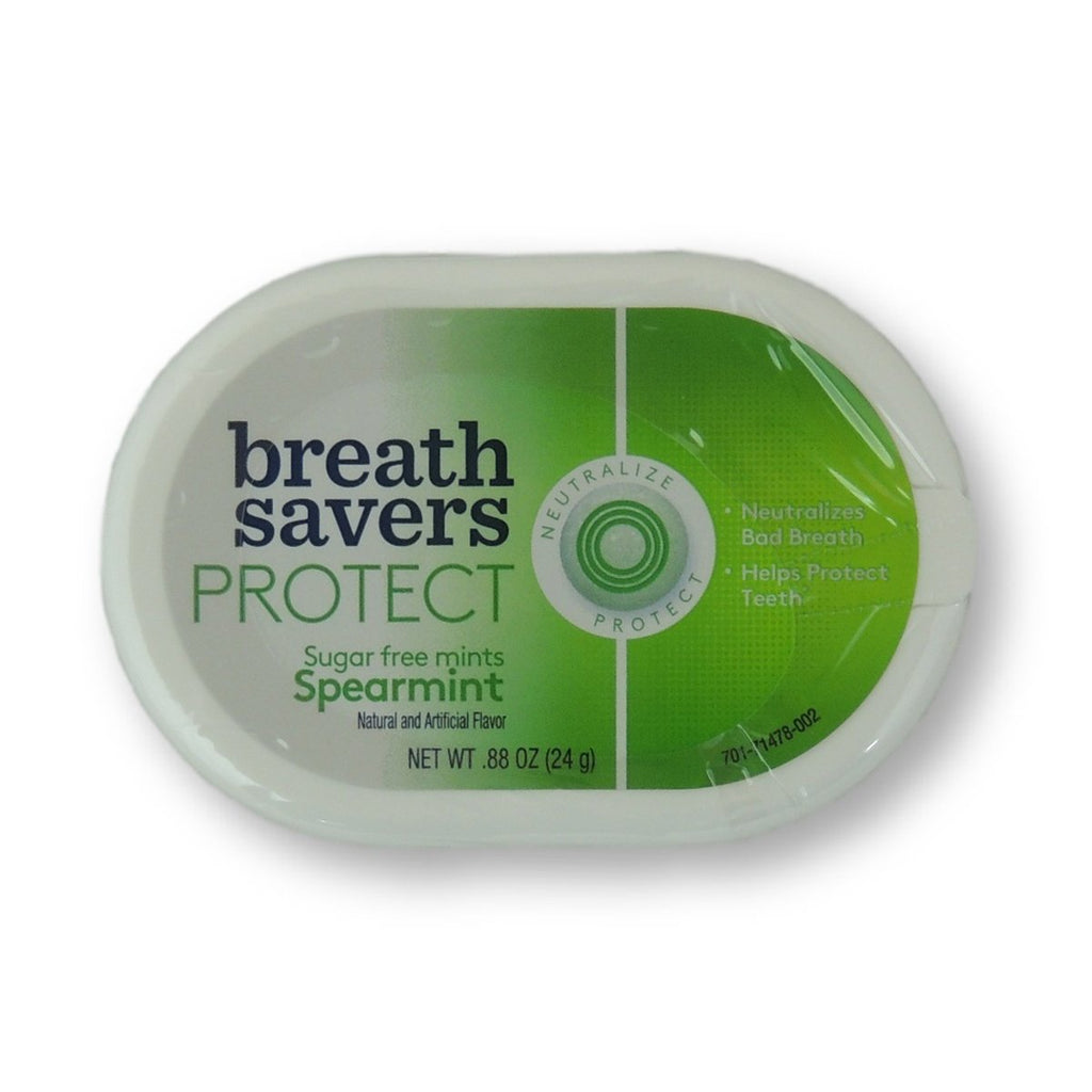 Breath Savers Protect Mint Spearmint Can 0.88oz
