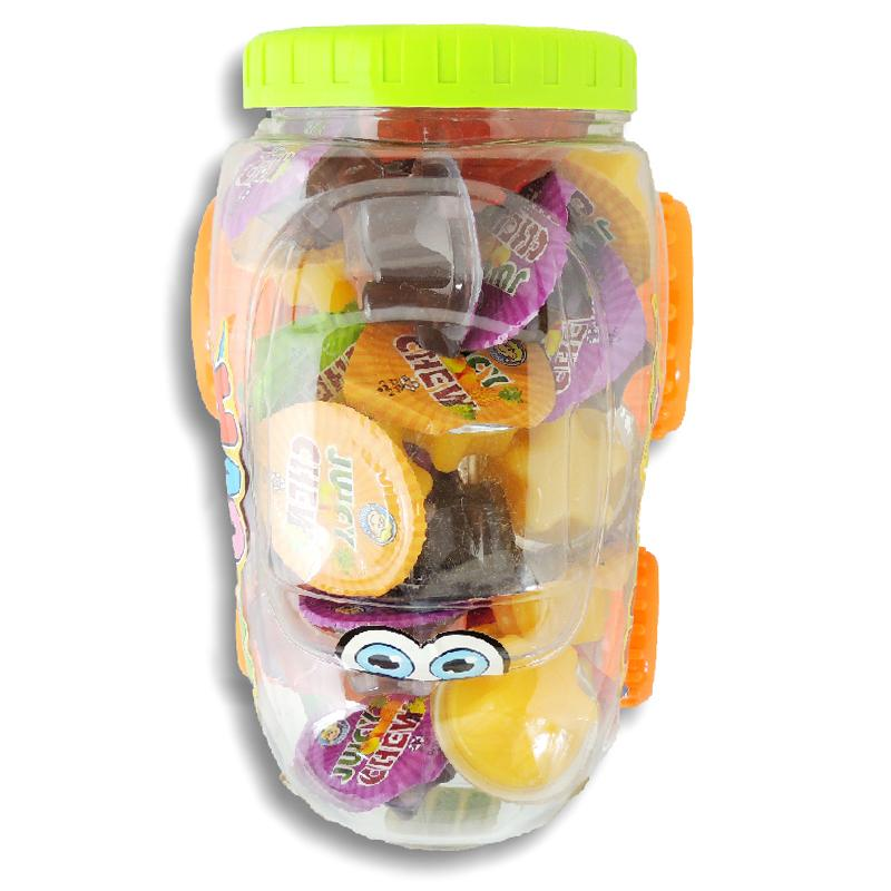 Juicy Chew  Assorted Flavor Jelly Cup (Beetle) - Jar  35 Pcs