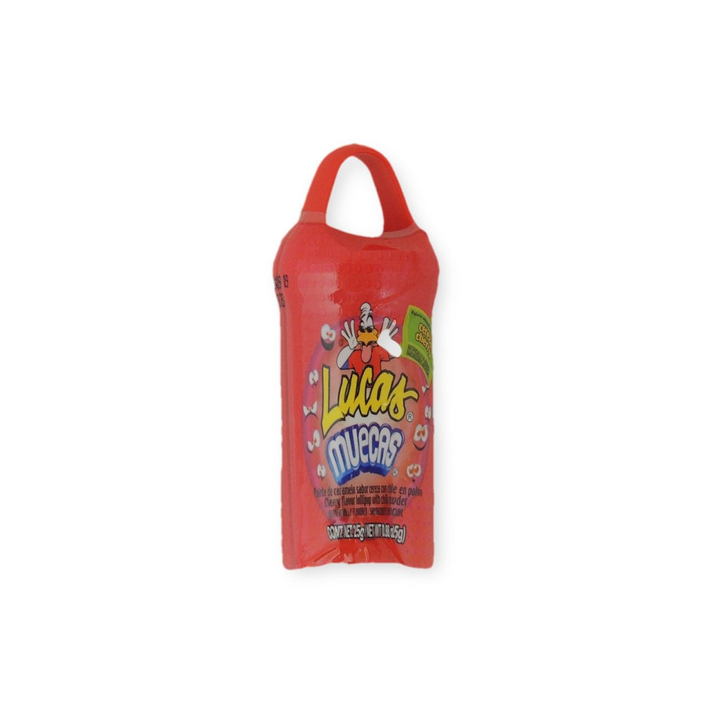 Lucas Muecas Cherry Flavor Lollipop With Chili Powder, Candy