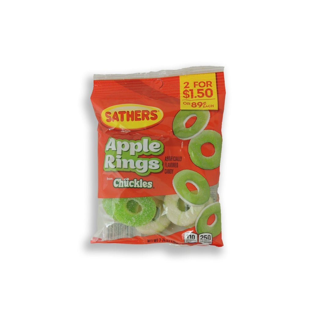 Sathers Gummallos Apple Rings 2.75 Oz