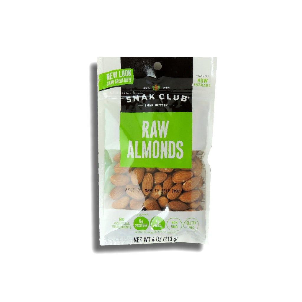 Snak Club Raw Almonds - Peg 4 Oz
