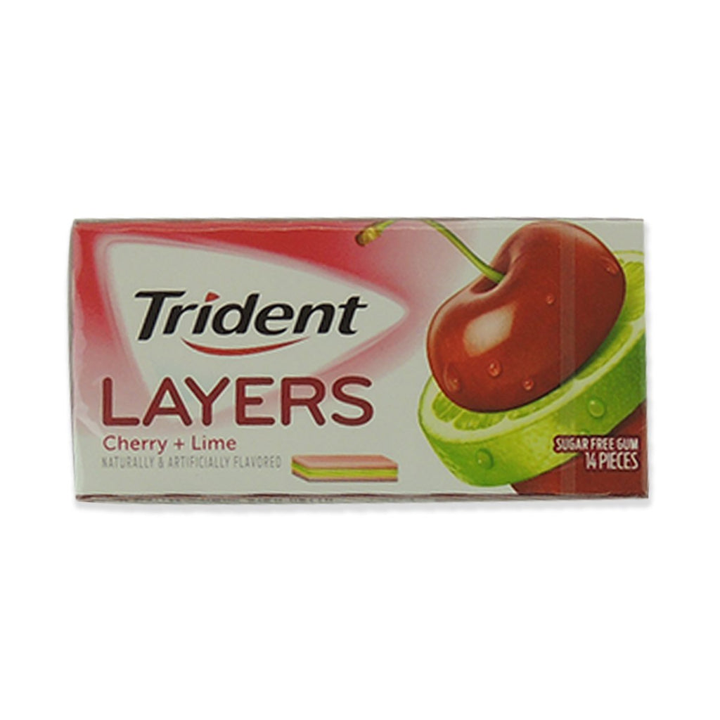 Trident Layers Sweet Cherry / Island Lime 14 Pcs