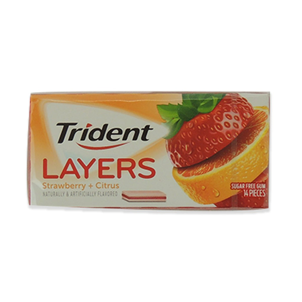 Trident Layers Wild Strawberry/Tangy Citrus 14 Pcs