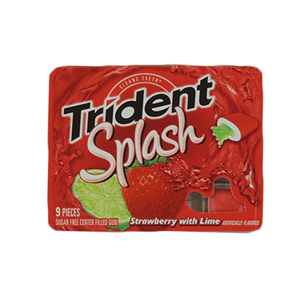 Trident Splash Strawberry With Lime Sugar Free Center Filled Gum