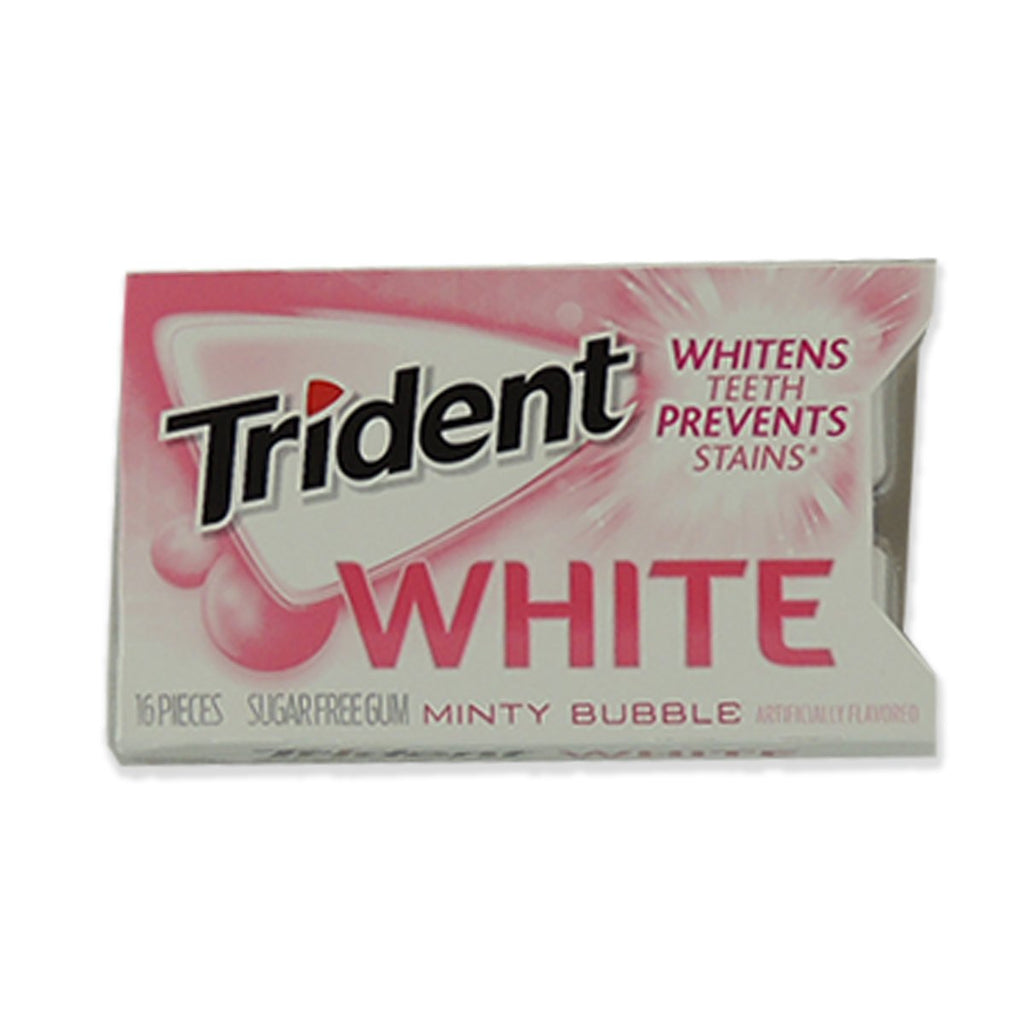 Trident White Gum Minty Bubble 16pcs