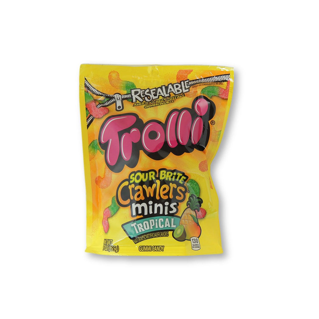 Trolli Mini Sour Brite Crawler Tropical - Pouch 9oz