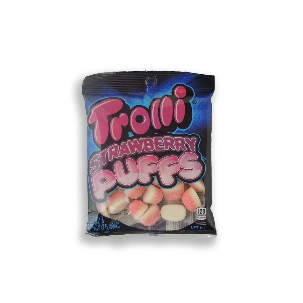 Trolli Peg Bag Strawberry Puffs 4.25 Oz