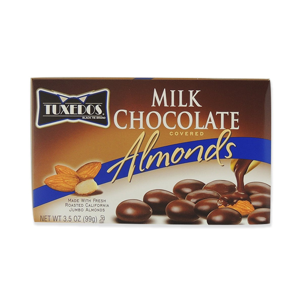 Tuxedos Milk Chocolate Covered Almonds, Chocolate Candy