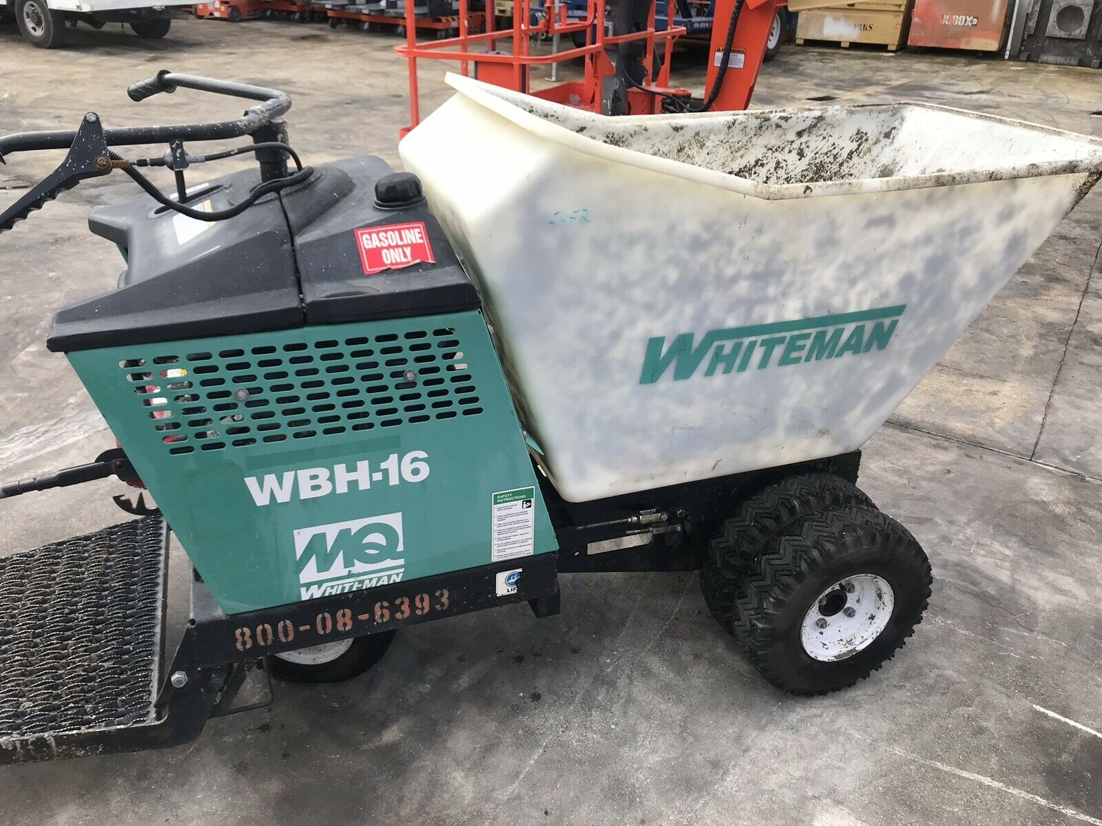 Used Whiteman WBH-16 Power Buggy Honda Gas Engine Concrete