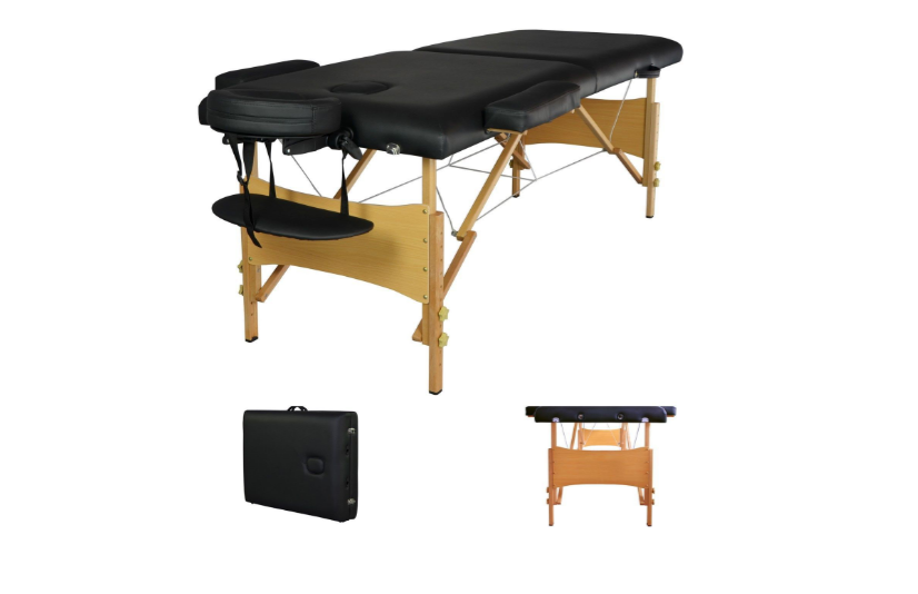 MASSAGE TABLE AND LAMP