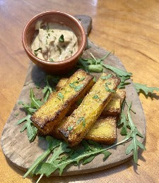 Polenta Chips with Garlic Mayo