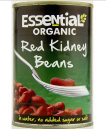 Essential Org Red Kidney Beans 400g