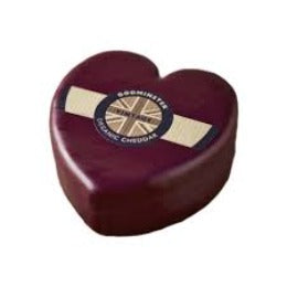 Godminster Heart-shaped Org Vintage Cheddar COW P V