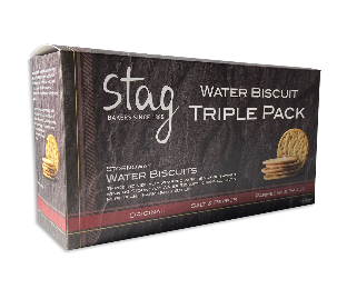 Stag Water Biscuits Triple Selection 450g