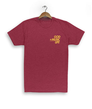 Equation Tee Maroon - God Life Clothing