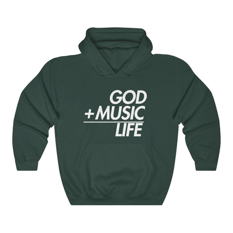 GREEN GML EQ HOODED SWEATSHIRT - God Life Clothing