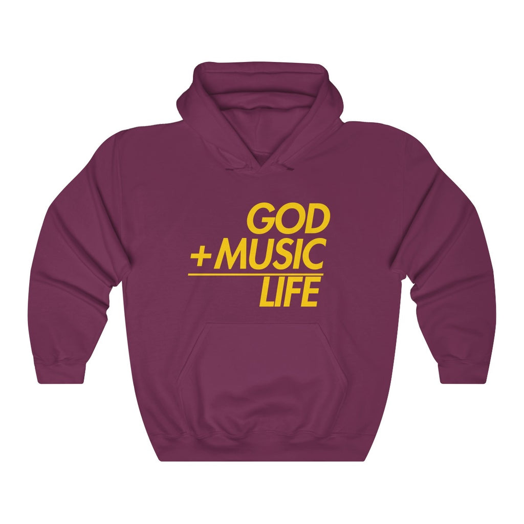 MAROON GML EQ HOODED SWEATSHIRT - God Life Clothing