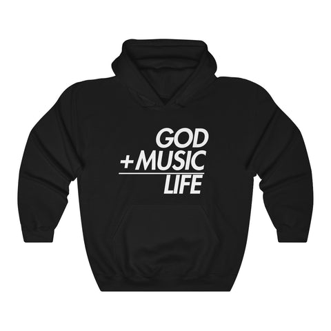 BLACK GML EQ HOODED SWEATSHIRT - God Life Clothing