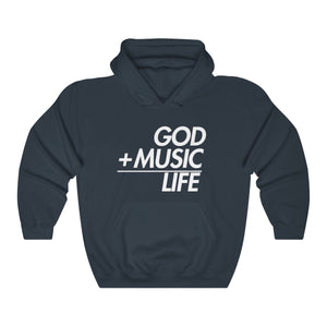 NAVY GML EQ HOODED SWEATSHIRT - God Life Clothing