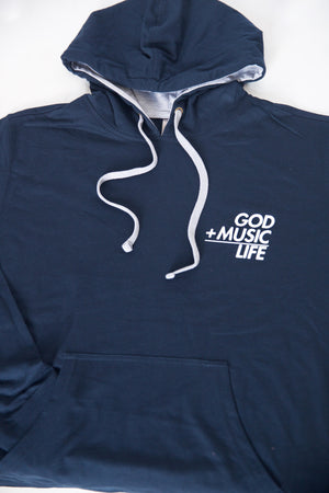 Equation LightWeight Hoodie Blue - God Life Clothing