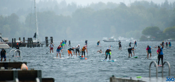 Riviera Paddle surf boards, round the rock sup paddle race