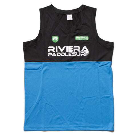 Riviera Paddlesurf Podium Jersey Front in Color Black/Blue