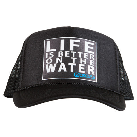 Riviera Paddlesurf Life is Better Hat in Black