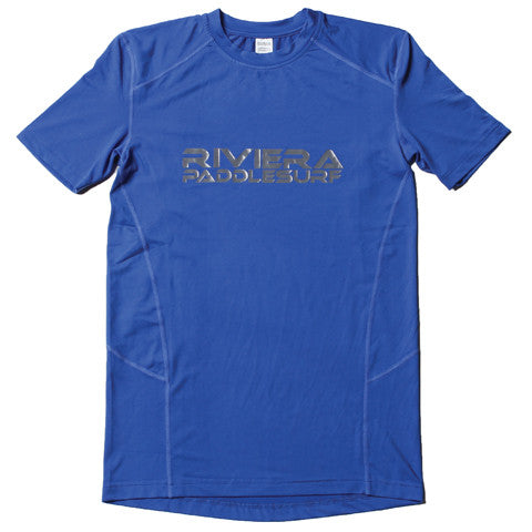 Short Sleeve Paddle Jersey Front in Blue