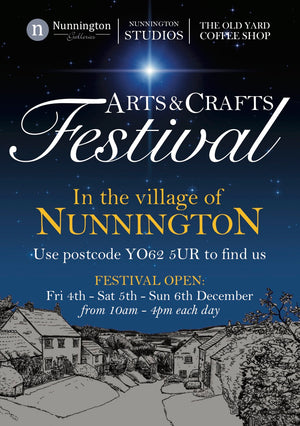 Arts and Crafts Festival in Nunnnington Starting Friday December 4th at 10.00am