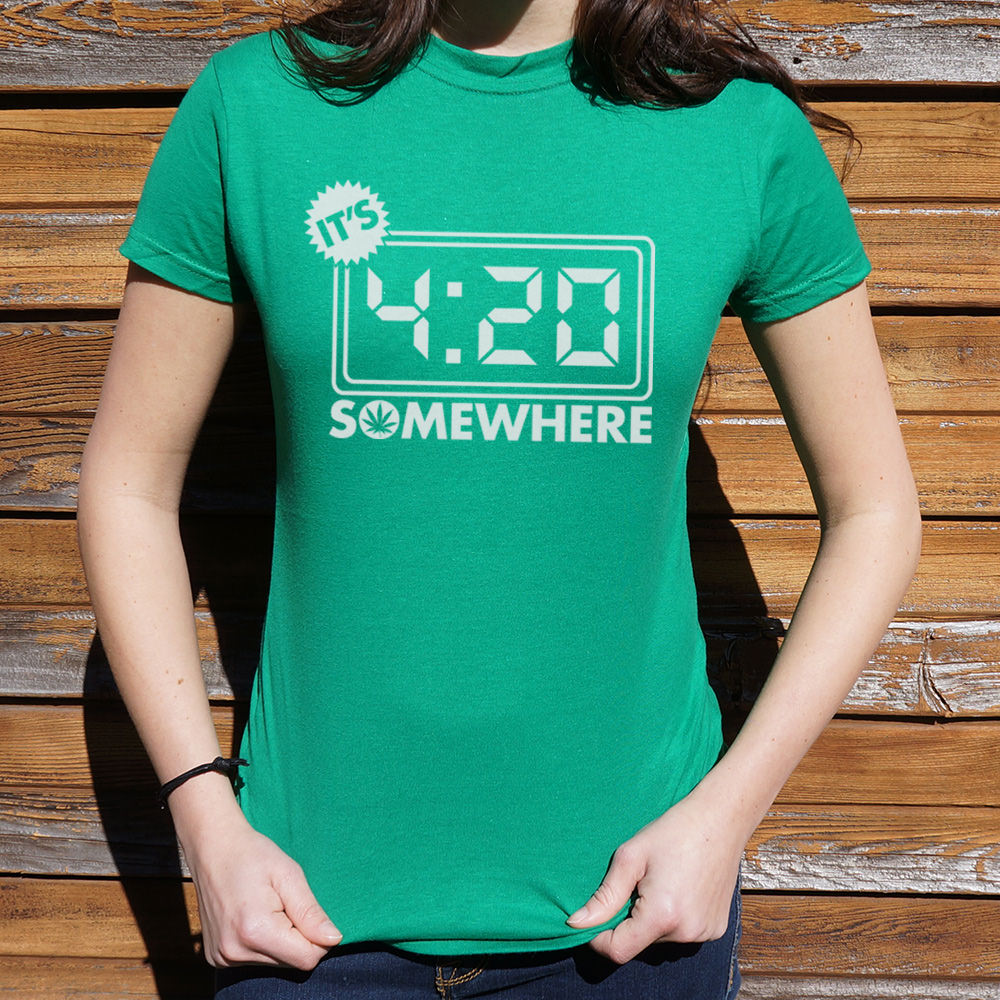 Light Sea Green It's Four-Twenty Somewhere T-Shirt (Ladies) Small / Lucky Green,Medium / Lucky Green,Large / Lucky Green,X-Large / Lucky Green,Small / Sky Blue,Medium / Sky Blue,Large / Sky Blue,X-Large / Sky Blue,Small / True Navy,Medium / True Navy,Large / True Navy,X-Large / True Navy,Small / Deep Red,Medium / Deep Red,Large / Deep Red,X-Large / Deep Red,Small / Chocolate,Medium / Chocolate,Large / Chocolate,X-Large / Chocolate,Small / Deep Ash,Medium / Deep Ash,Large / Deep Ash,X-Large / Deep Ash,Small