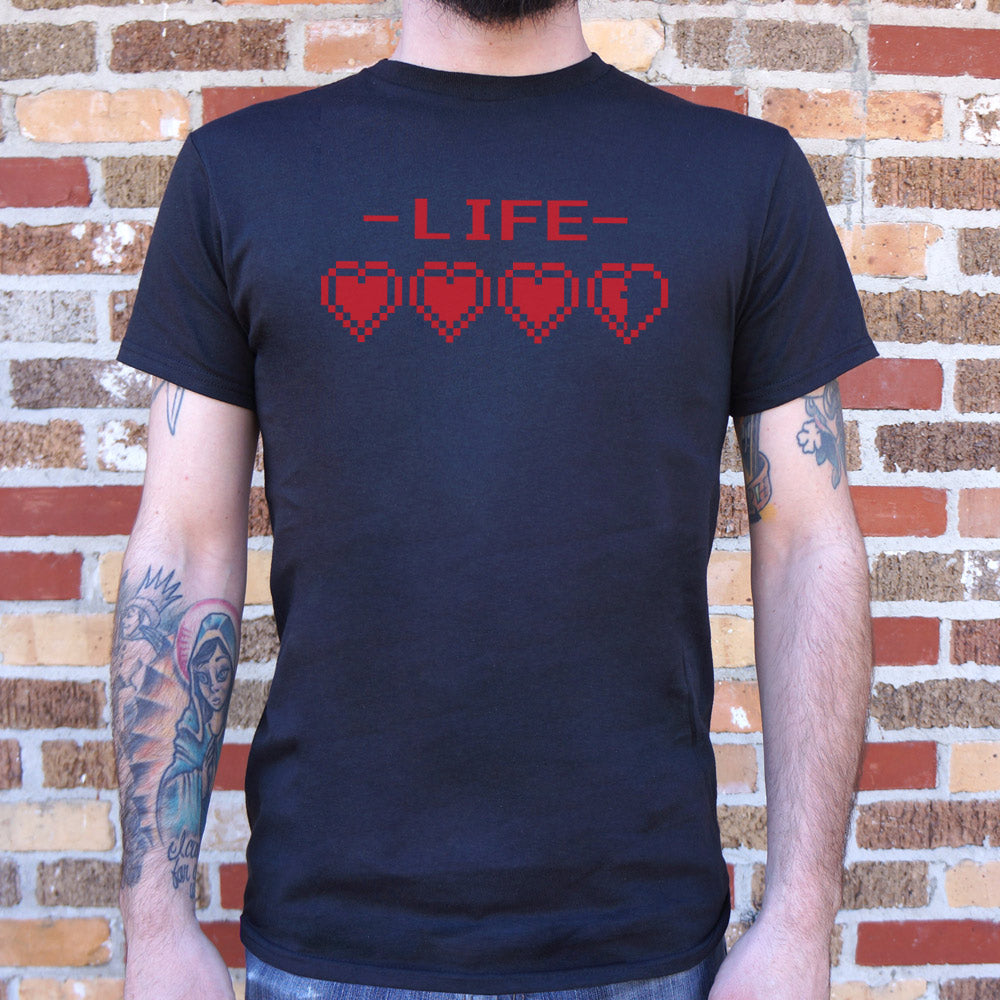 Dark Slate Gray 8-Bit Life Hearts T-Shirt (Mens) Small / Black,Medium / Black,Large / Black,X-Large / Black,2X-Large / Black,3X-Large / Black,Small / Navy Blue,Medium / Navy Blue,Large / Navy Blue,X-Large / Navy Blue,2X-Large / Navy Blue,3X-Large / Navy Blue,Small / Kelly Green,Medium / Kelly Green,Large / Kelly Green,X-Large / Kelly Green,2X-Large / Kelly Green,3X-Large / Kelly Green,Small / Navy Heather,Medium / Navy Heather,Large / Navy Heather,X-Large / Navy Heather,2X-Large / Navy Heather,3X-Large / Na
