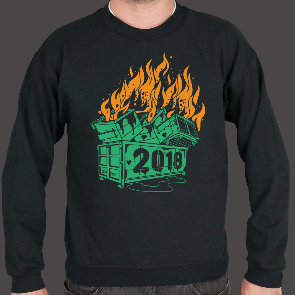 Sea Green Dumpster Fires 2018 Sweater (Mens) Small / Black,Medium / Black,2X-Large / Black,Large / Black,X-Large / Black,3X-Large / Black