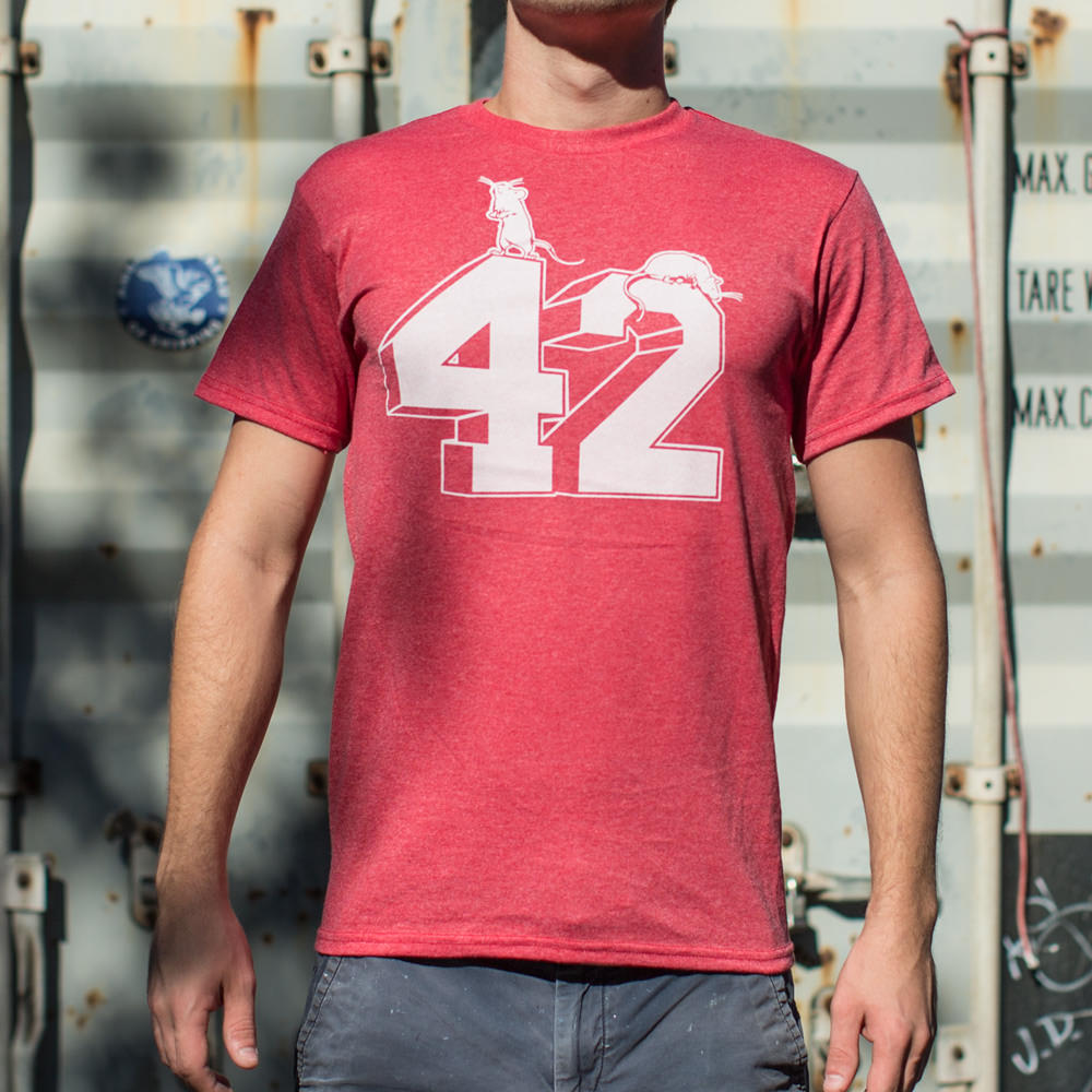 Maroon Forty Two T-Shirt (Mens) Small / Red Heather,Medium / Red Heather,Large / Red Heather,X-Large / Red Heather,2X-Large / Red Heather,3X-Large / Red Heather,Small / Brown Heather,Medium / Brown Heather,Large / Brown Heather,X-Large / Brown Heather,2X-Large / Brown Heather,3X-Large / Brown Heather,Small / Black,Medium / Black,Large / Black,X-Large / Black,2X-Large / Black,3X-Large / Black,Small / Charcoal,Medium / Charcoal,Large / Charcoal,X-Large / Charcoal,2X-Large / Charcoal,3X-Large / Charcoal,Small