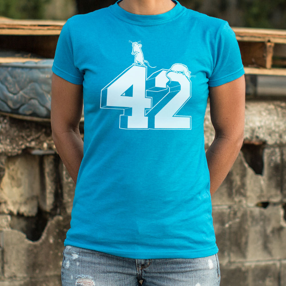 Dark Cyan Forty Two T-Shirt (Ladies) Small / Sky Blue,Medium / Sky Blue,Large / Sky Blue,X-Large / Sky Blue,Small / Deep Red,Medium / Deep Red,Large / Deep Red,X-Large / Deep Red,Small / True Navy,Medium / True Navy,Large / True Navy,X-Large / True Navy,Small / Lucky Green,Medium / Lucky Green,Large / Lucky Green,X-Large / Lucky Green,Small / Deep Ash,Medium / Deep Ash,Large / Deep Ash,X-Large / Deep Ash,Small / Chocolate,Medium / Chocolate,Large / Chocolate,X-Large / Chocolate,Small / Midnight,Medium / Mid