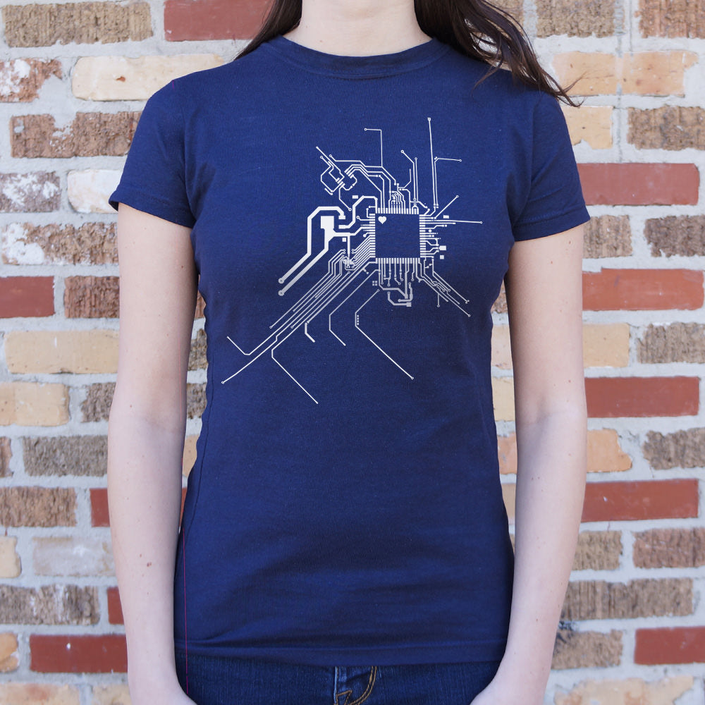 Midnight Blue Geek At Heart Circuit T-Shirt (Ladies) Small / True Navy,Medium / True Navy,Large / True Navy,X-Large / True Navy,Small / Deep Red,Medium / Deep Red,Large / Deep Red,X-Large / Deep Red,Small / Lucky Green,Medium / Lucky Green,Large / Lucky Green,X-Large / Lucky Green,Small / Gray Granite,Medium / Gray Granite,Large / Gray Granite,X-Large / Gray Granite,Small / Deep Ash,Medium / Deep Ash,Large / Deep Ash,X-Large / Deep Ash,Small / Chocolate,Medium / Chocolate,Large / Chocolate,X-Large / Chocola