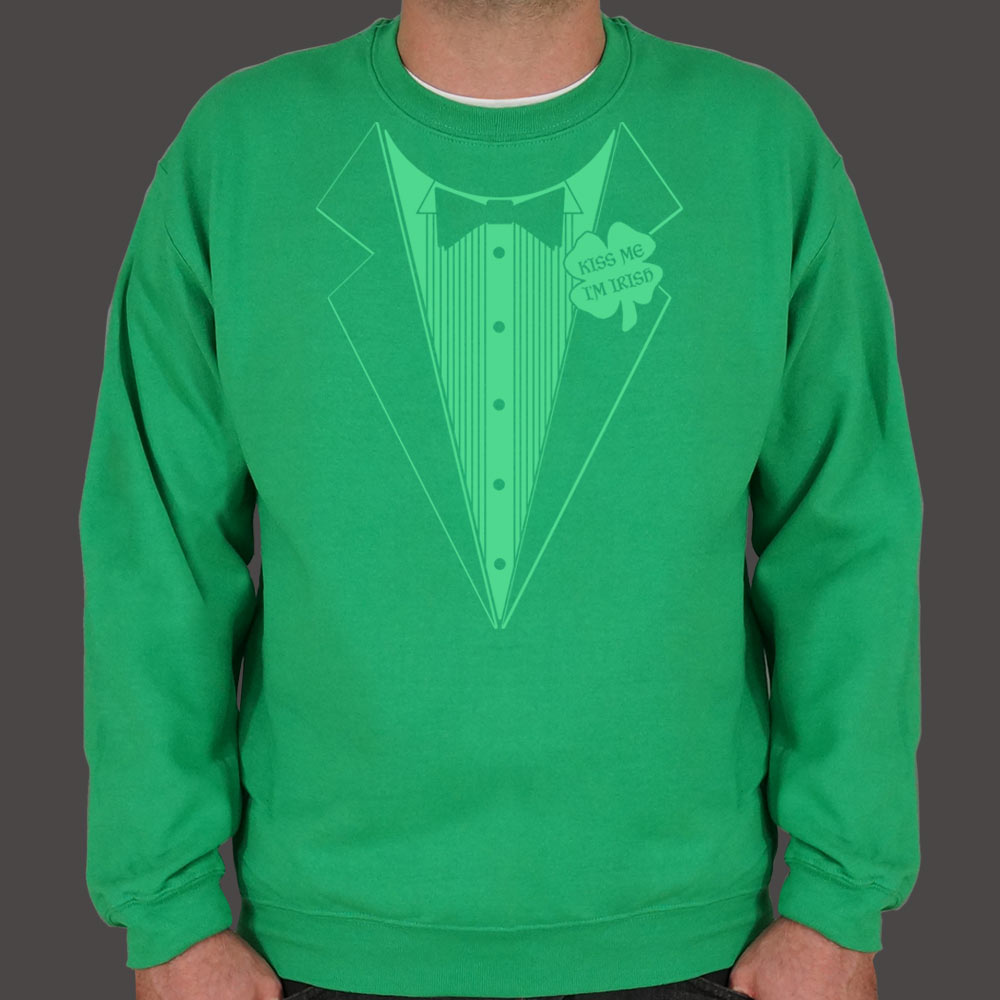 Medium Sea Green Irish Tuxedo Sweater (Mens) Small / Kelly Green,Medium / Kelly Green,2X-Large / Kelly Green,Large / Kelly Green,X-Large / Kelly Green,3X-Large / Kelly Green
