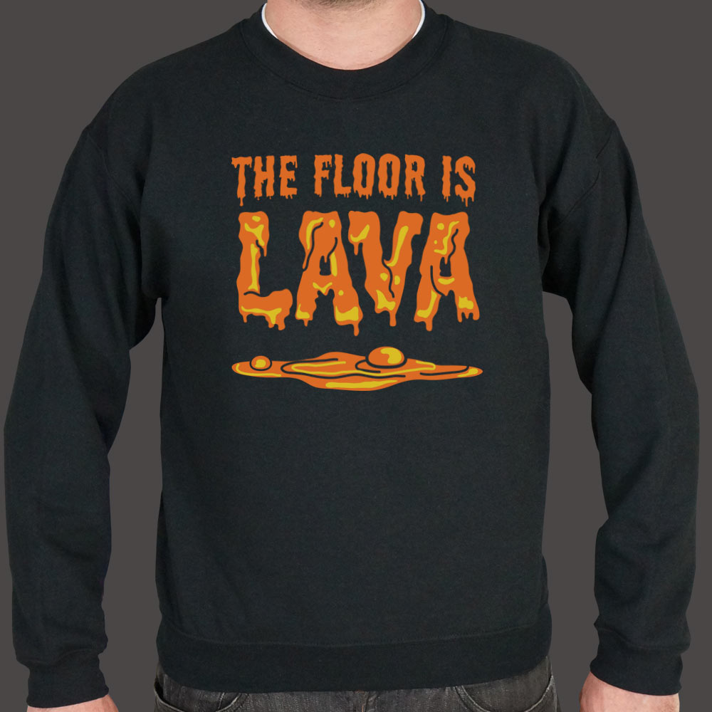 Chocolate The Floor Is Lava  Sweater (Mens) Small / Black,Medium / Black,2X-Large / Black,Large / Black,X-Large / Black,3X-Large / Black