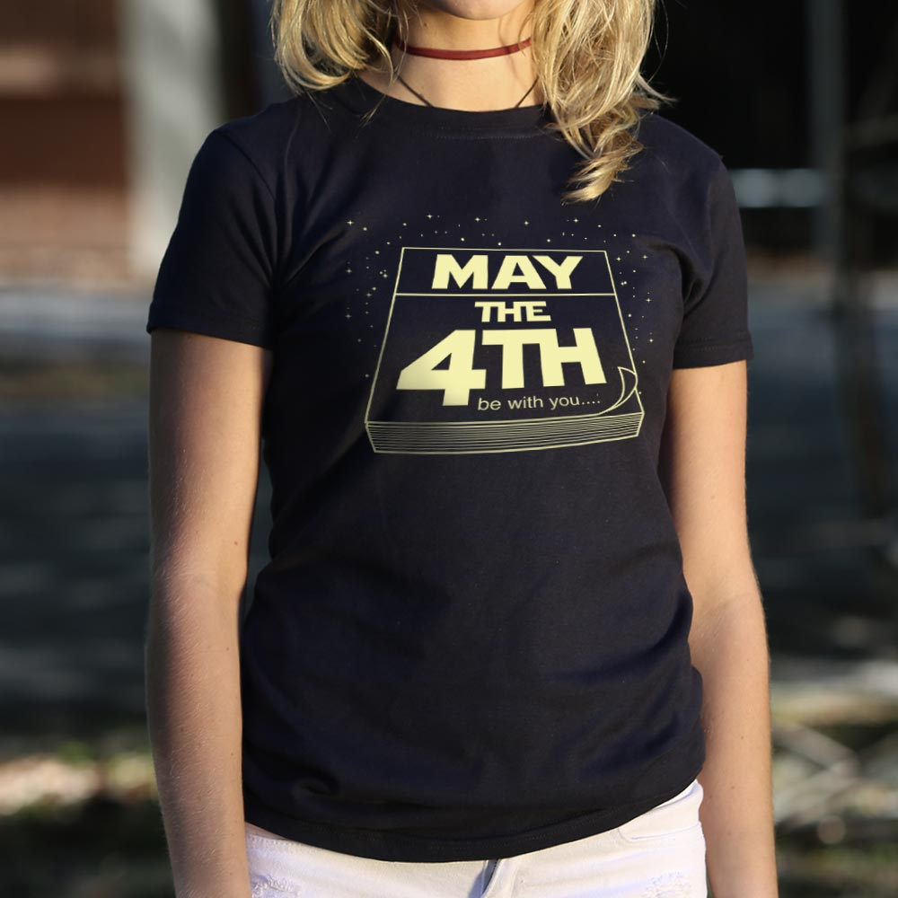 Black May The Fourth Be With You T-Shirt (Ladies) Small / Midnight,Medium / Midnight,Large / Midnight,X-Large / Midnight,Small / True Navy,Medium / True Navy,Large / True Navy,X-Large / True Navy,Small / Deep Red,Medium / Deep Red,Large / Deep Red,X-Large / Deep Red,Small / Lucky Green,Medium / Lucky Green,Large / Lucky Green,X-Large / Lucky Green,Small / Gray Granite,Medium / Gray Granite,Large / Gray Granite,X-Large / Gray Granite,Small / Deep Ash,Medium / Deep Ash,Large / Deep Ash,X-Large / Deep Ash,Smal