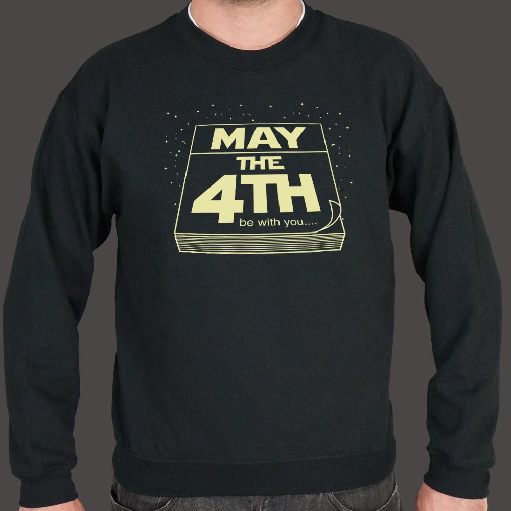 Dark Slate Gray May The Fourth Be With You Sweater (Mens) Small / Black,Medium / Black,2X-Large / Black,Large / Black,X-Large / Black,3X-Large / Black