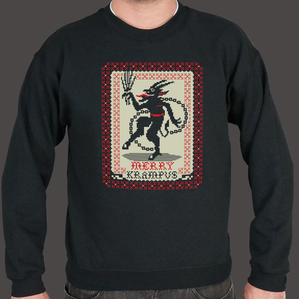 Gray Merry Krampus Sweater (Mens) Small / Black,Medium / Black,2X-Large / Black,Large / Black,X-Large / Black,3X-Large / Black