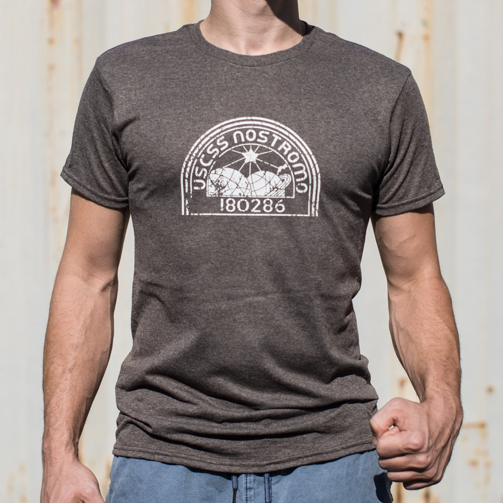Dim Gray Nostromo T-Shirt (Mens) Small / Brown Heather,Medium / Brown Heather,Large / Brown Heather,X-Large / Brown Heather,2X-Large / Brown Heather,3X-Large / Brown Heather,Small / Black,Medium / Black,Large / Black,X-Large / Black,2X-Large / Black,3X-Large / Black,Small / Gray Heather,Medium / Gray Heather,Large / Gray Heather,X-Large / Gray Heather,2X-Large / Gray Heather,3X-Large / Gray Heather,Small / Kelly Green,Medium / Kelly Green,Large / Kelly Green,X-Large / Kelly Green,2X-Large / Kelly Green,3X-L